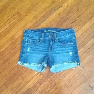 America Eagle Distressed Jeans Shorts